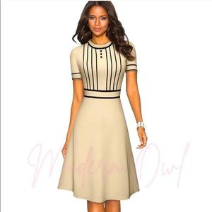 SS Vintage Ivory Patchwork A-Line Dress